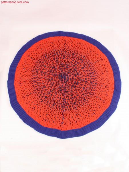 Pizza carpet in cross-tubular structure / Pizza-Teppich in Kreuzschlauch-Struktur