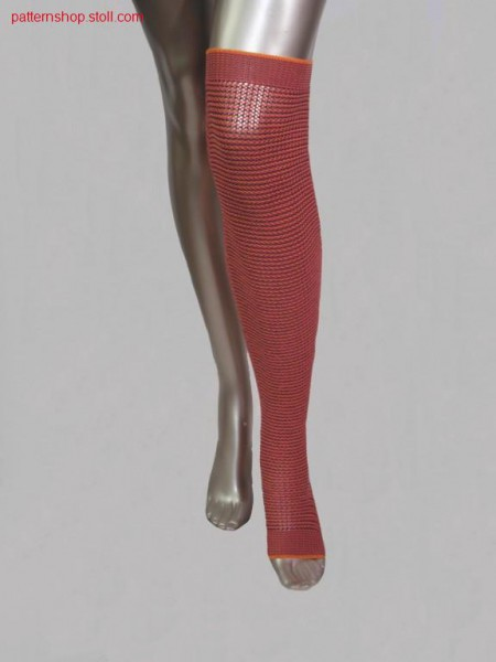 3-colours leg gauntlets with pointelle structure / 3-farbigeBeinstulpen mit Petinetstruktur