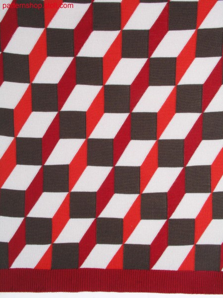 Intarsia pattern in 3d op-art / Intarsiamuster in 3D Op-Art