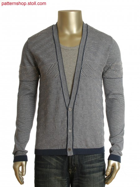 Fully Fashion cardigan in single pique structure