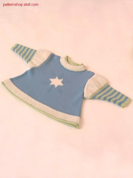 Children's pullover with plush optic / Kinderpullover mit Pl