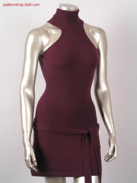 Fitted sleeveless jersey-rib dress / Tailliertes
