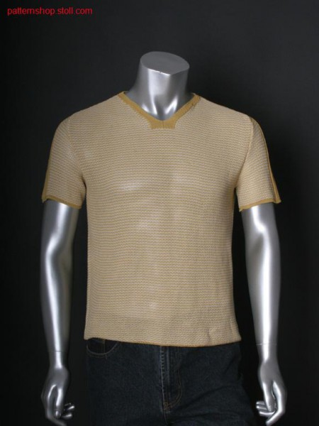 Fully Fashion short-sleeved pullover in tuck structure / Fully Fashion Kurzarmpullover in Fangstruktur