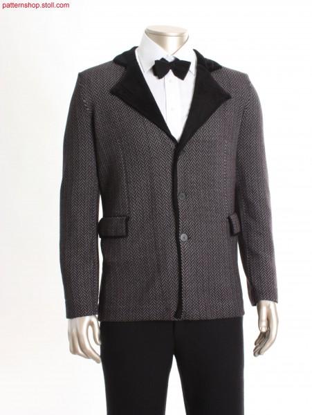 Fully Fashion blazer with herringbone pattern / Fully Fashion Blazer mit Fischgratmuster