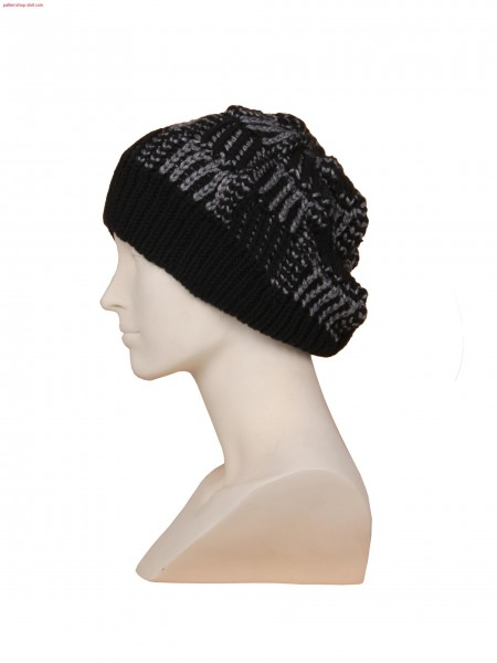 Stoll-knit and wear&reg hat,fair isle technique in 1x2 needle arrangement