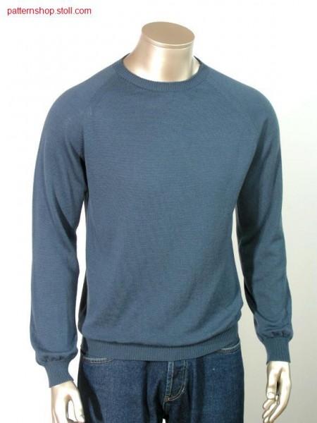 Jersey-Raglanpullover  knitted with all needles / RL-Raglanpullover mit allen Nadeln gestrickt.