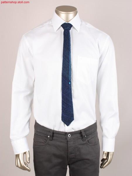 Tie in ikat plated Jersey / Krawatte in ikat plattiertem Rechts-Links