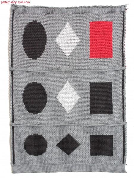 Multi-coloured jacquard fabric with twill back / Mehrfarbiges Jacquardgestrick mit K