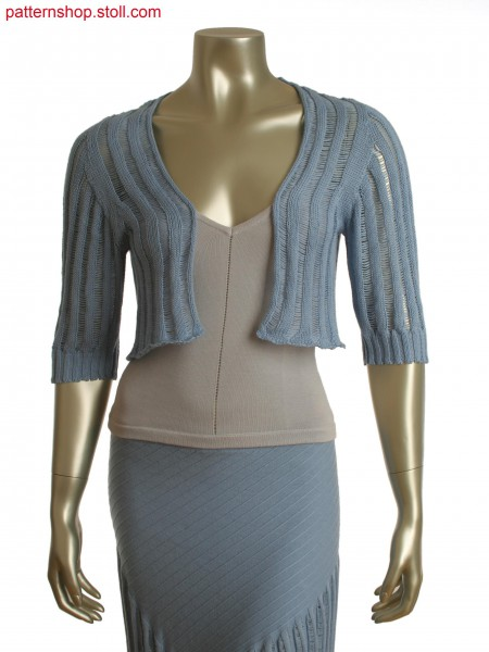 Stoll-knit and wear&reg jacket with floats