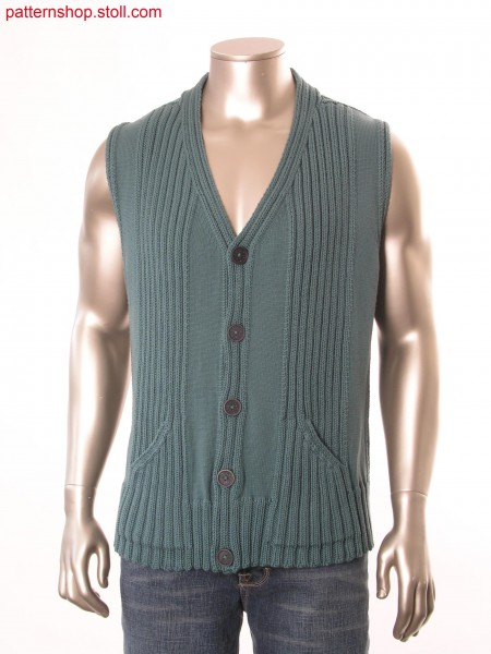 Fully Fashion waistcoat, knitted in one piece / Fully Fashion Weste in einem Teil gestrickt