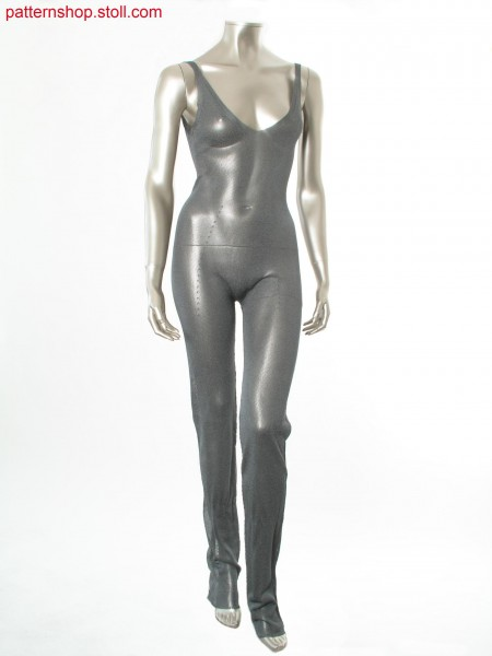 Jersey catsuit with purl borders / Rechts-Links Catsuit mit Links-Links R