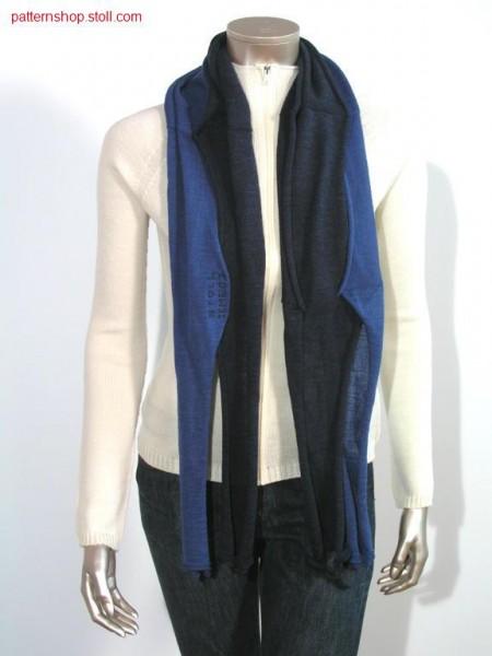 Jersey scarf with ikme logo and 4 inch racking / Rechts-LinksSchal mit Ikme Logo und 4 Zoll Versatz