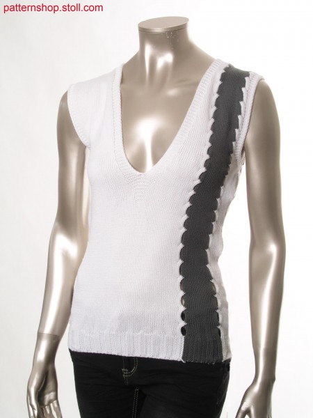 Fully Fashion-intarsia top, knitted in one piece / Fully Fashion-Intarsia Top, in einem Teil gestrickt