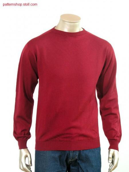 Jersey-pullover with saddle shoulder / RL-Pullover mit Sattelschulter