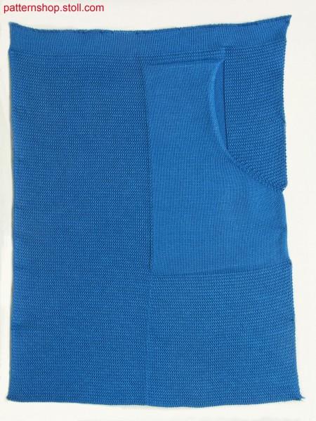 Swatch with diagonal patch thrust-in-pocket / Musterausschnitt mit aufgesetzter schr