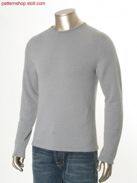 Jersey basic pullover with inserted sleeves / Rechts-Links Basic-Pullover mit eingesetzten