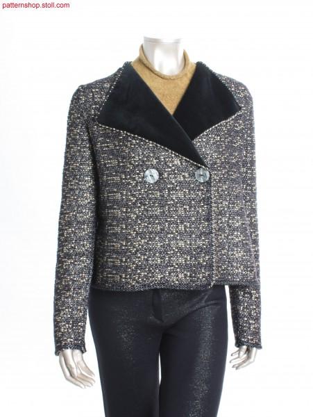 Double-breasted tweed-like Fully Fashion jacket / Zweireihige tweed