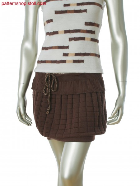 Fully Fashion skirt with 2x2 rib, full rib and single jerseystructure