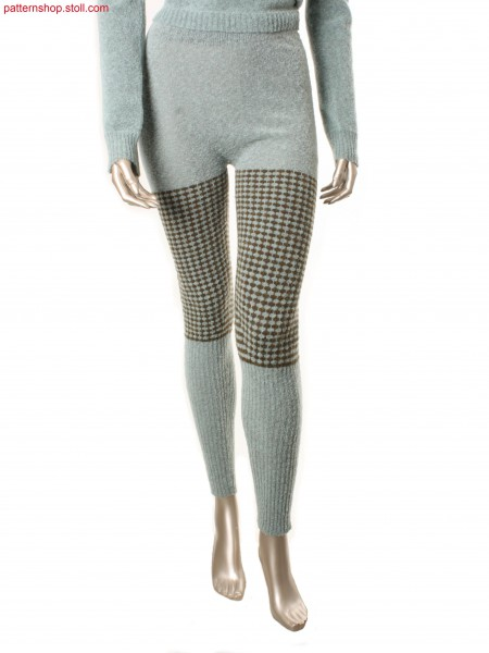 Leggings with 2-colour jersey-tuck stitch structure / Leggings mit 2-farbiger Rechts-Links Fangstruktur