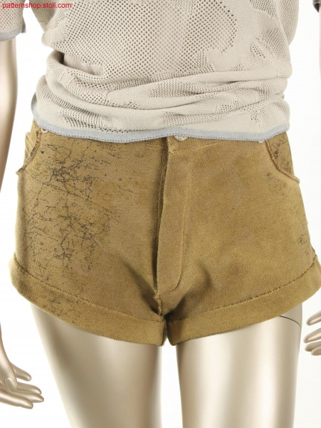 College style shorts in rice grain structure