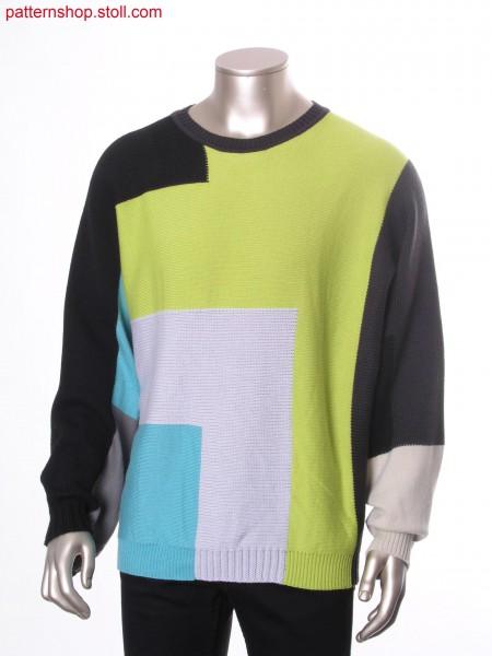 Unisex intarsia garment knitted in a single piece / Unisex Intarsia Kleidungsst
