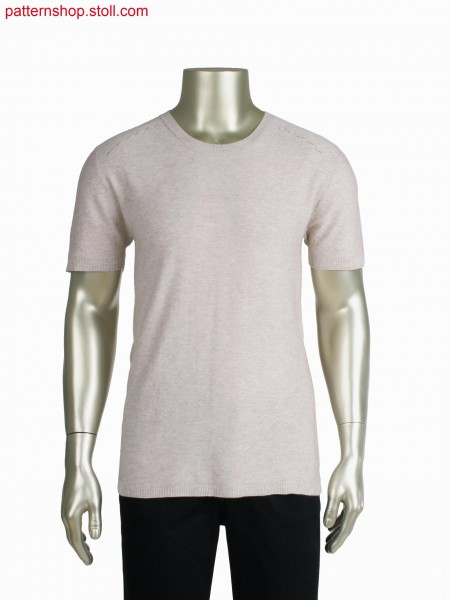 Fully Fashion T-shirt, float and cast off structure in degrade