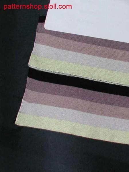 5-colour striped double jersey polo collar / 5-farbiger geringelter Rechts-Rechts Polokragen