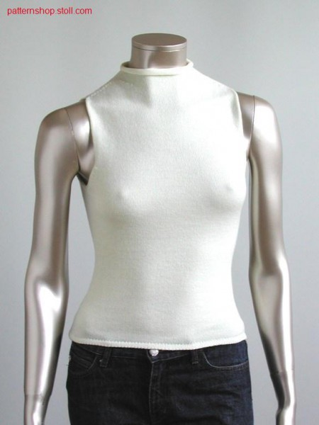 Top with tubular start and turtle neck (washed) / Top mit Schlauchanfang und Rollkragen. (gewaschen)