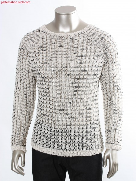 Striped pullover with pointelle structure / Geringelter Pullover mit Petinetstruktur