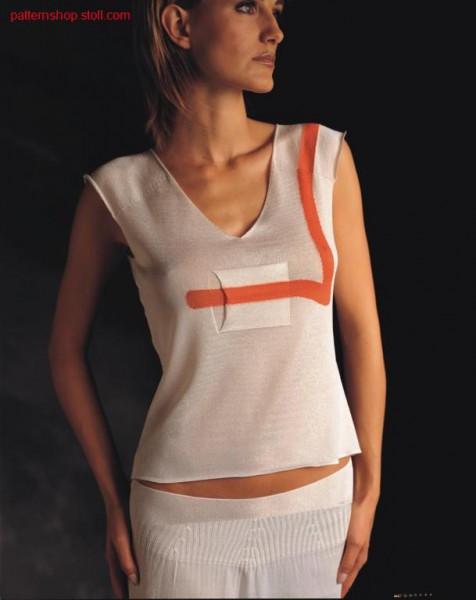 Sleeveless FF-Intarsia pullover /