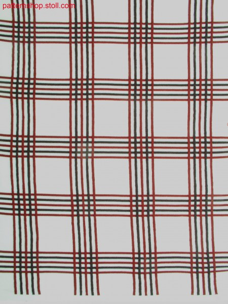 Tartan-intarsia pattern / Tartan-Intarsiamuster