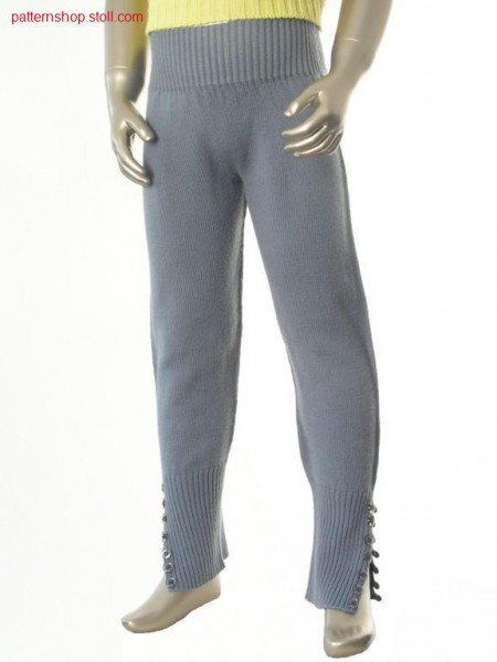Jersey children's trousers with 2x1 rib / Rechts-Links Kinderhose mit 2x1 Rippe