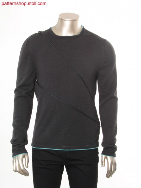 Fully Fashion-intarsia pullover with two looks / Fully Fashion-Intarsia Pullover mit 2 Optiken