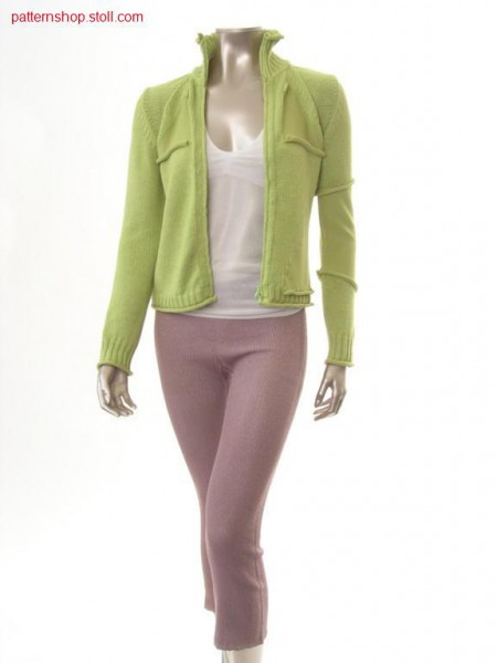 Fitted FF-cardigan with applications / Taillierte FF-Strickjacke mit Applikationen