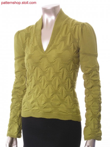 Fitted pullover with puff sleeves / Taillierter Pullover mitPuff