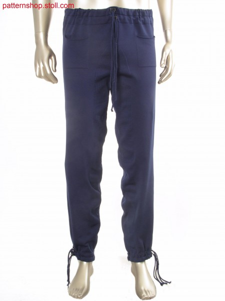 Fully Fashion trousers with patch pockets / Rechts-Links Fully Fashion Hose mit aufgesetzten Taschen
