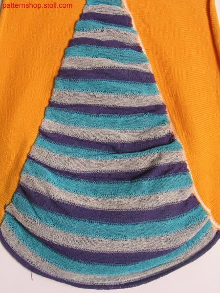 Striped swatch with lateral intarsia inserts / Geringelter Musterausschnitt mit seitlichen Intarsiaeins