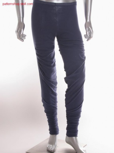 Fully fashion jersey trousers / Fully Fashion Rechts-Links Hose