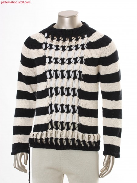 Striped Fully Fashion jersey pullover / Geringelter  FullyFashion Rechts-Links Pullover