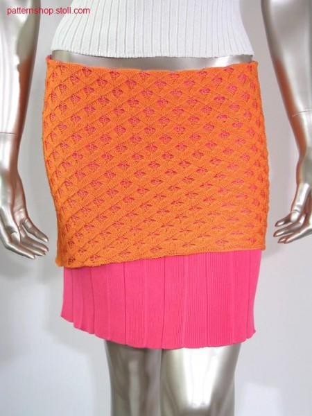 Skirt with pointel and plissee pleat / Rock mit Petinet und Plisseefalte