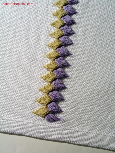 Intarsia plait pattern in 1x1 technique / Intarsia Flechtmuster in 1x1 Technik