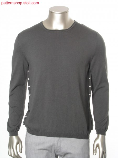 Fully Fashion jersey pullover / Fully Fashion Rechts-Links Pullover