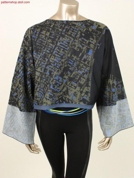 Fully fashioned, traversal kimono style shirt / Fully Fashion Kimono-Shirt
