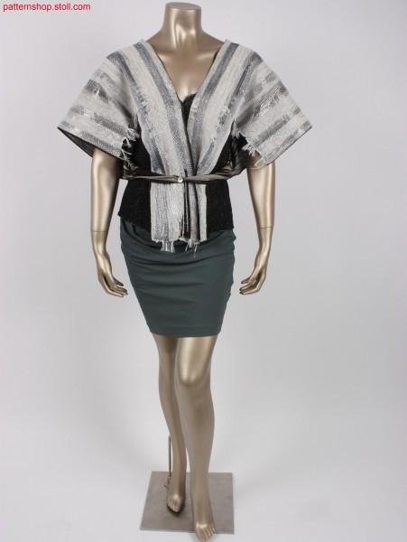 Kimono cape in intarsia plated jersey structure / Kimono-Cape in Intarsia plattierter einlflächiger Strickstruktur