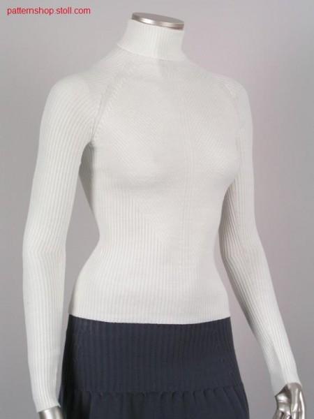 Fitted 2x2-rib-structure raglan pullover / Taillierter 2x2-Ripp-Struktur Raglanpullover