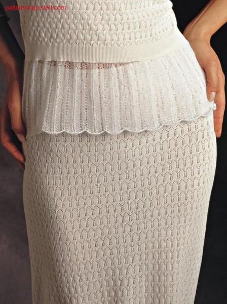 Skirt with petinet hem in multi gauge.
