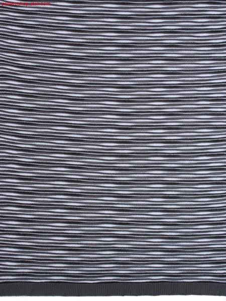 3-colour striped structured jersey fabric / 3-farbig geringeltes, strukturiertes Rechts-Links Gestrick