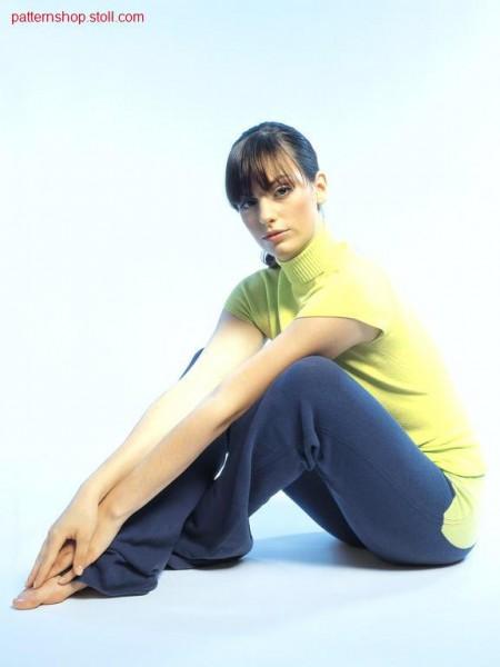 Jersey-Intarsia trousers / Rechts-Links-Intarsia Hose