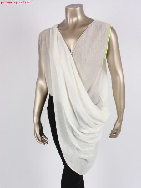 Asymmetrical draped jersey shirt / Asymmetrisch drapierte Rechts-Links Hemdbluse