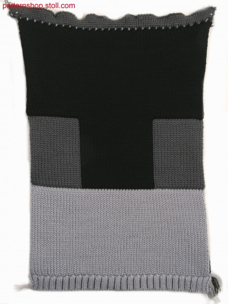 Three layer fabric (cross tubular) in 1x2 technique / Dreilagiges Gestrick (Kreuzschlauch) in 1x2 Technik